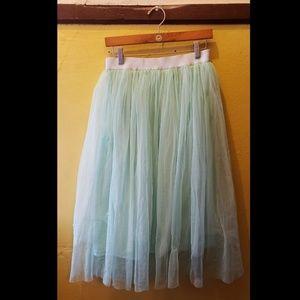 Mint Green Tulle Skirt Rave Fairy Pastel Goth